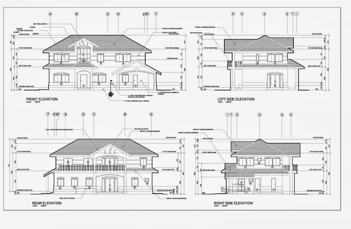 Front Elevation Design Drawing : Best autocad training institute in rohini delhi