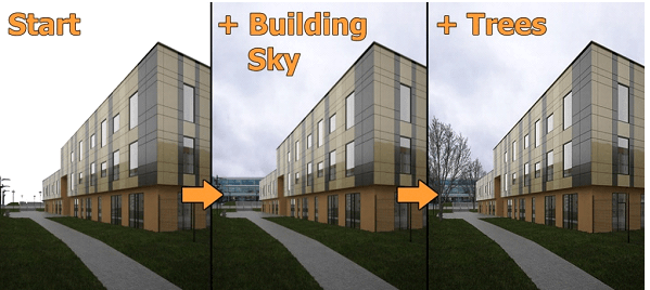 Create Matte Painting with Building