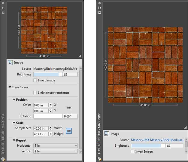 Texture Editor in AutoCAD