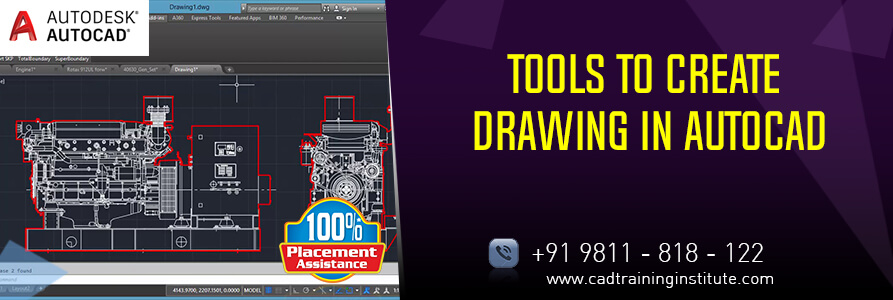 Top 12 Twelve Tools to create drawing in AutoCAD